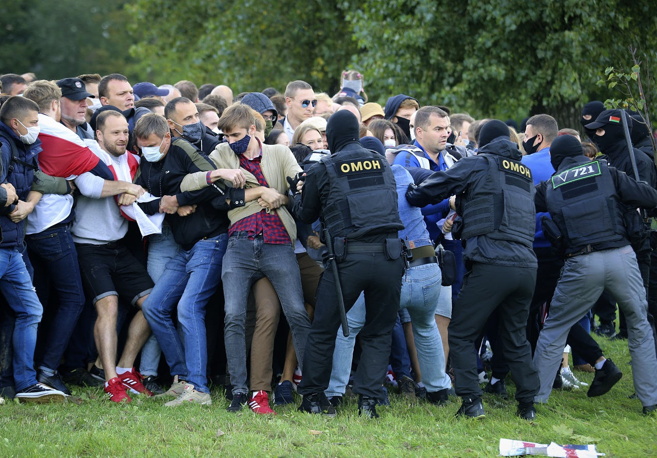 protesty v Bielorusku