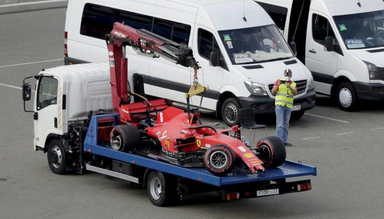 Vettel, nehoda
