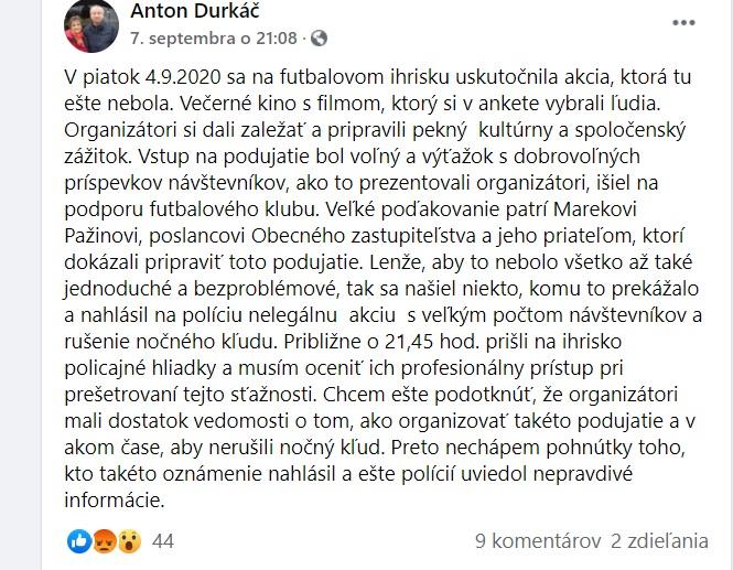 Šarišské Sokolovce udavanie polícia