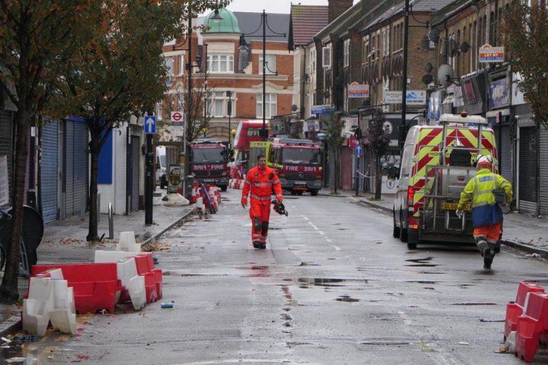 Londýn, výbuch, plyn
