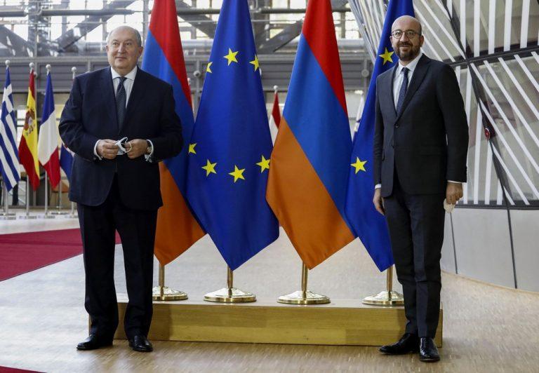 Charles Michel, stretnutie, Arménsko, prezident