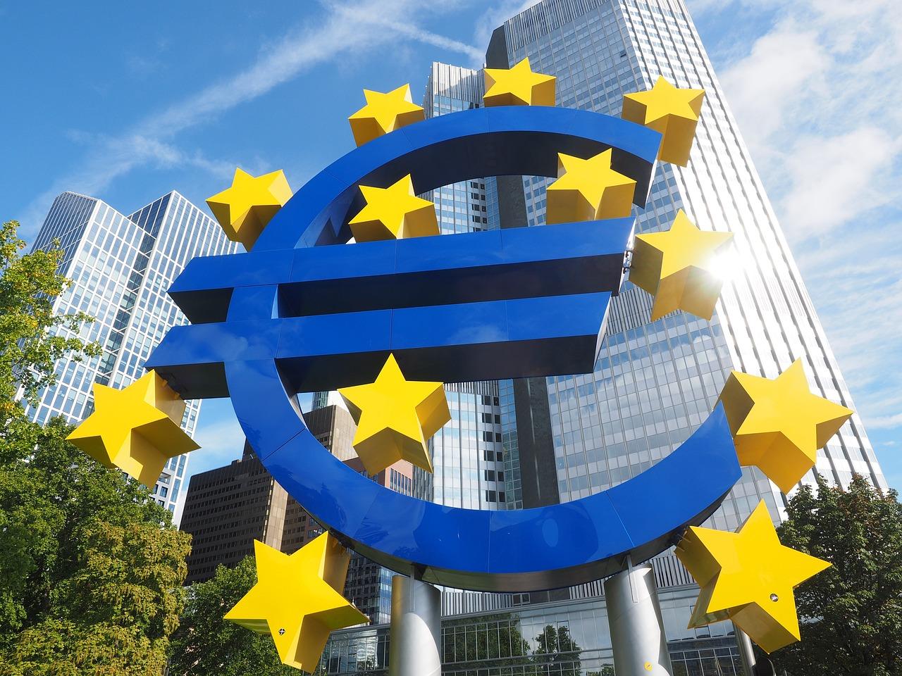 eura euro znak európska centrálna banka ecb