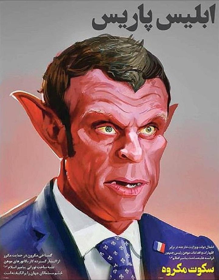 Macron karikatúra