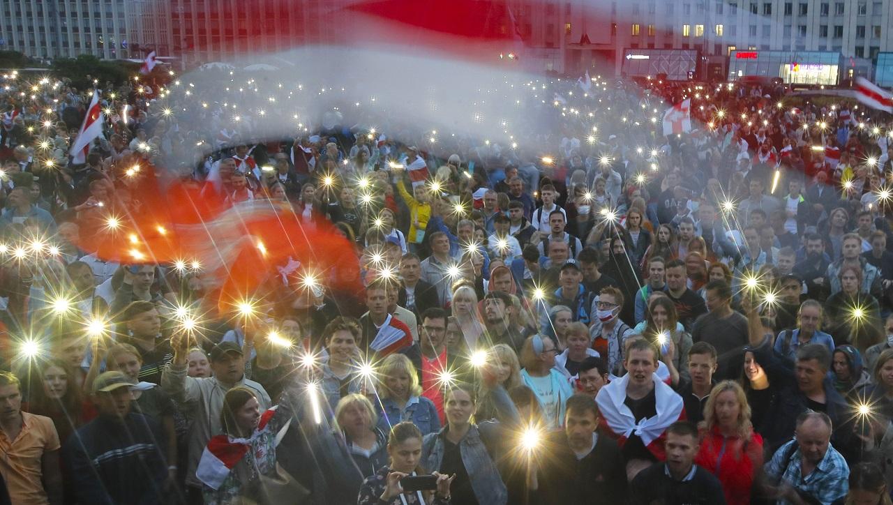 Bielorusko protest Minsk