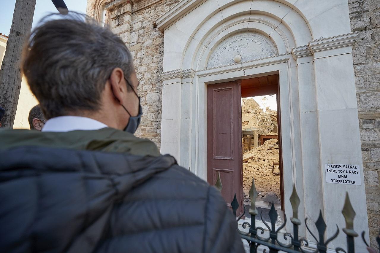 Kyriakos Mitsotakis zemetrasenie Grécko