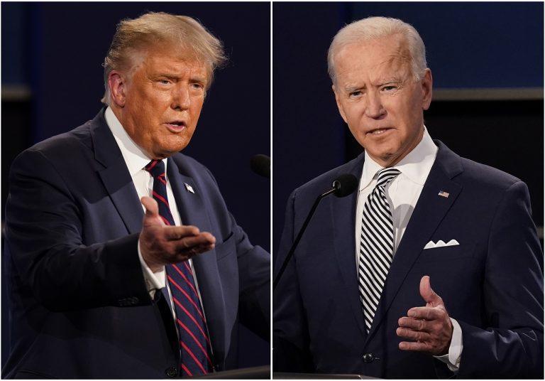 kombosnímka Donald Trump Joe Biden
