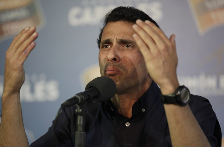 opozičný venezuelský líder Henrique Capriles tlaèová konferencia