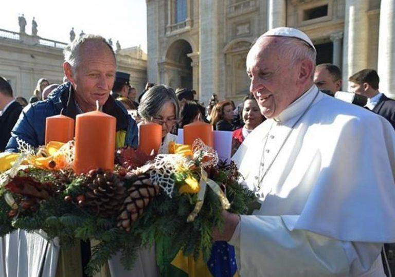 advent, pápež, veniec