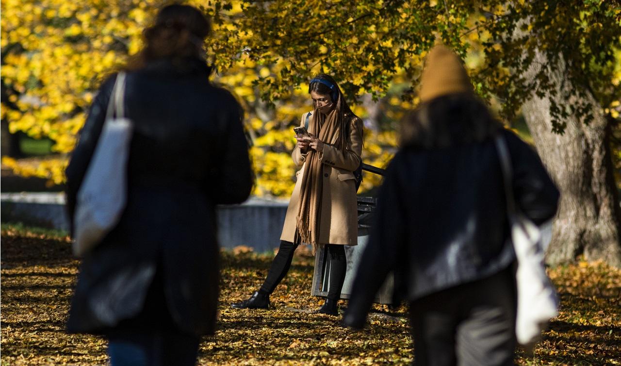 ľudia jeseň prechádzka život