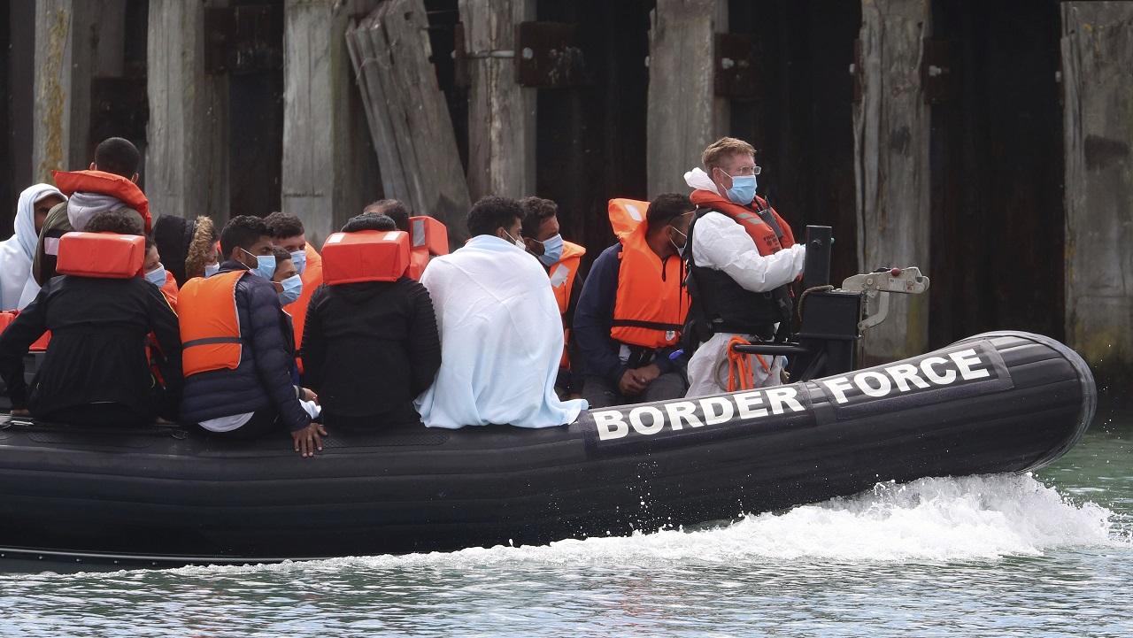 Migranti Lamanšský prieliv