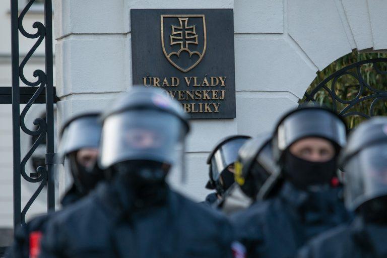 protest proti vláde Igora Matoviča