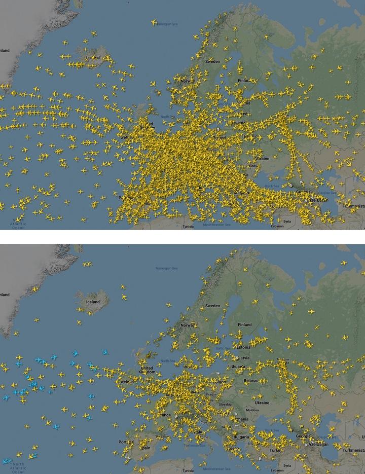 Hustota leteckej dopravy