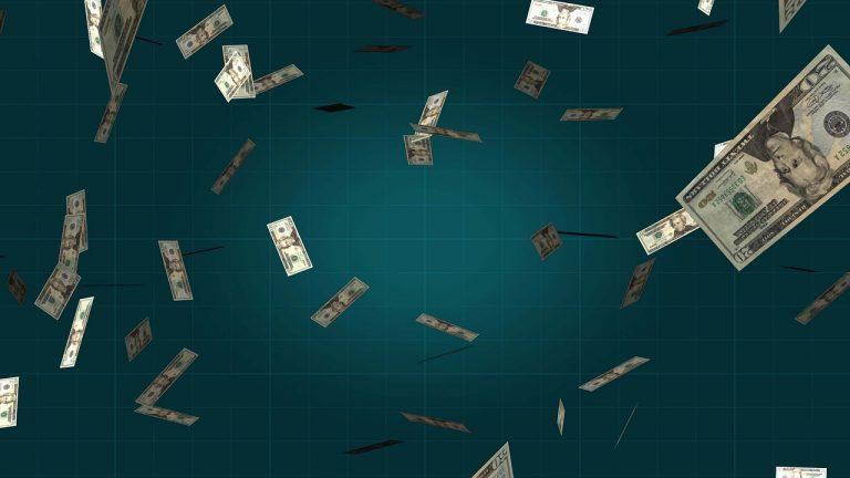 bankovky doláre peniaze