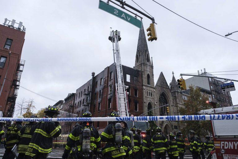 požiar na newyorskom Manhattane
