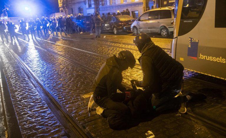 Belgicko protest polícia