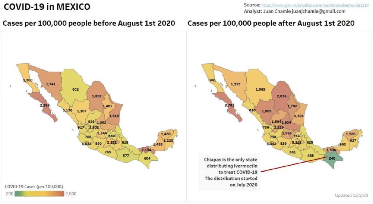 Miera pozitivity v Mexiku
