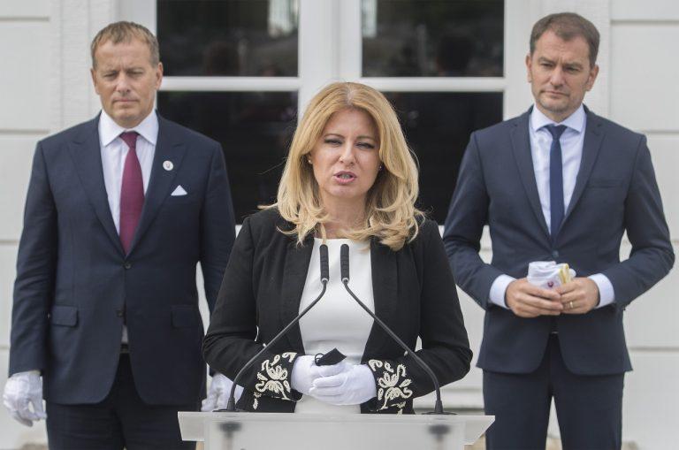 Zuzana Čaputová predseda parlamentu Boris Kollár predseda vlády Igor Matovič