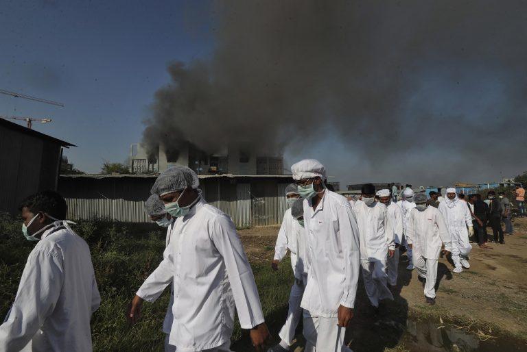 požiar v Indii