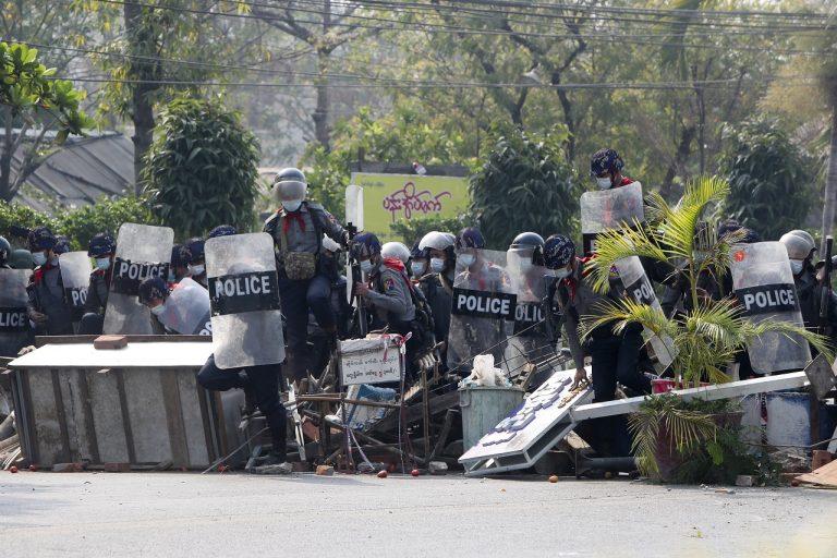 mjanmarsko protest
