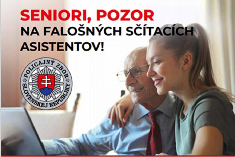 Polícia upozorňuje seniorov na falošných sčítacích asistentov