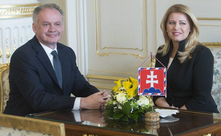 Andrej Kiska prezidentka SR Zuzana Čaputová
