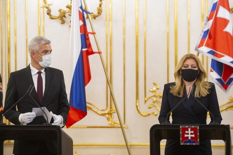 Prezidentka SR Zuzana Čaputová, minister zahraničných vecí a európskych záležitostí SR Ivan Korčok