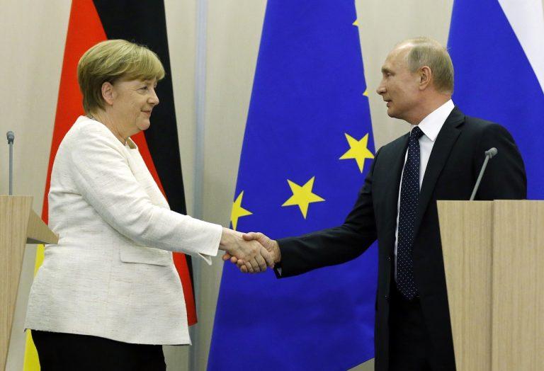 Vladimir Putin, Angela Merkelová