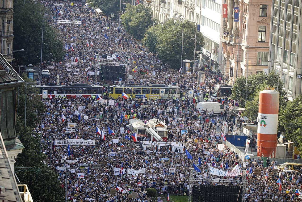 Demonštrácia v Prahe