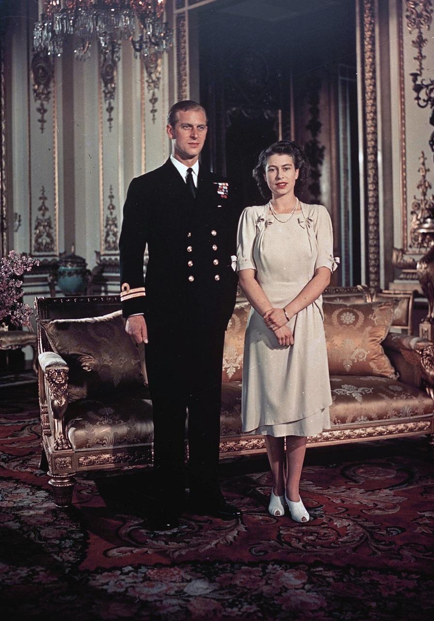 britská kráľovná Alžbeta II. britský princ Philip