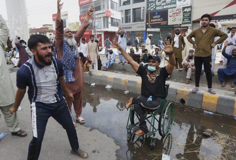 protest pakistan