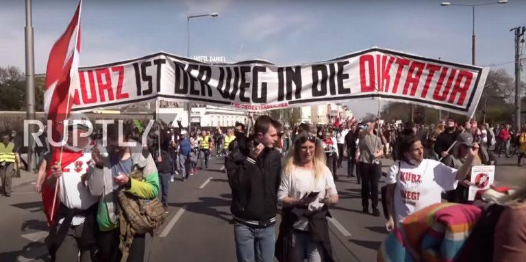 Rakúsko demonštrácia
