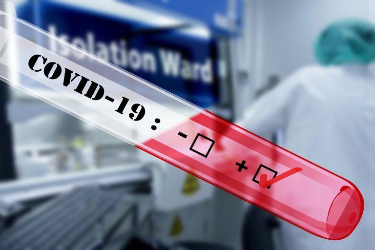koronavírus test