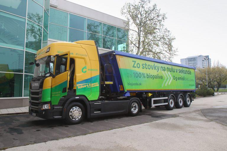 Prvý slovenský kamión na 100% bionaftu
