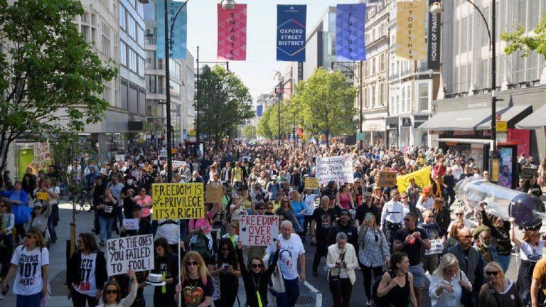 protest v Británii