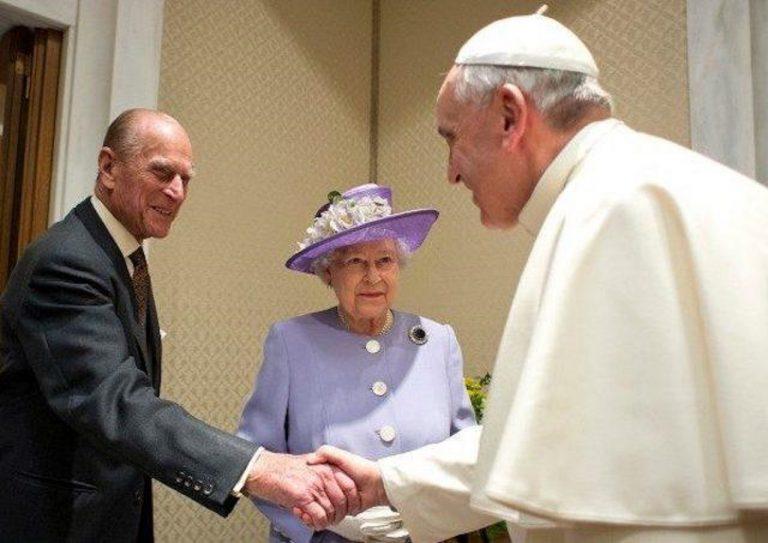 František, Philip s manželkou