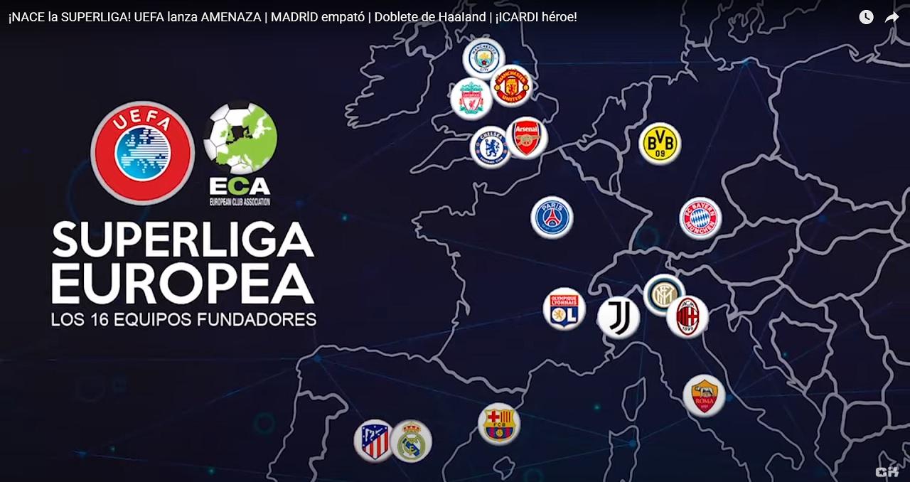 Europska Superliga vizuál