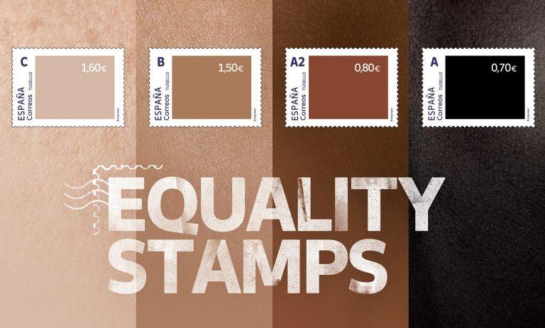 španielska pošta vydala sériu protirasistických známok; výsledok má opačný efekt