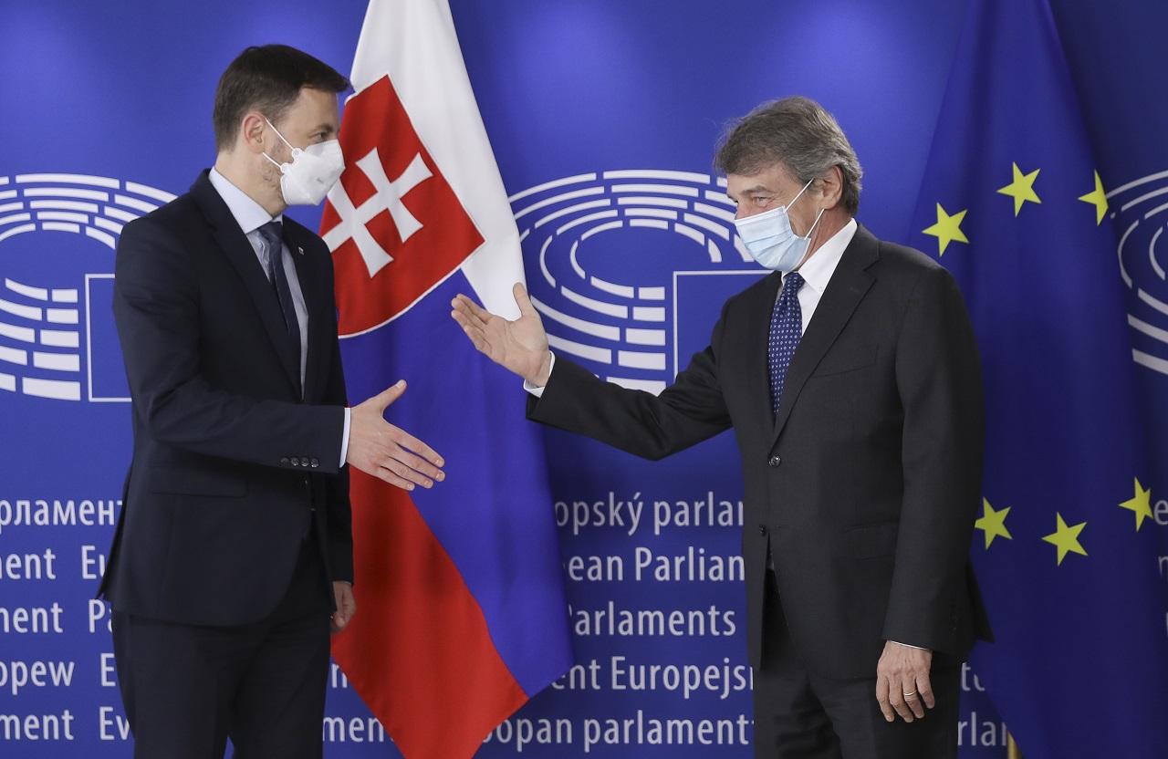 Slovenský premiér Eduard Heger v Bruseli