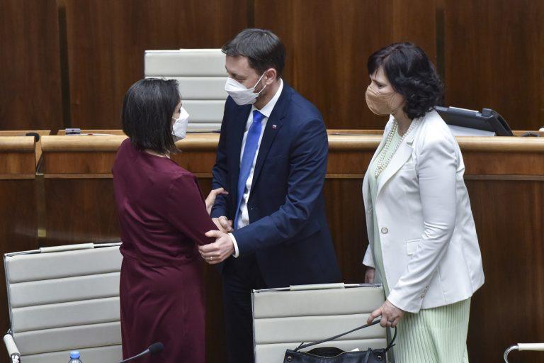 ministerka spravodlivosti Mária Kolíková premiér Eduard Heger Veronika Remišová