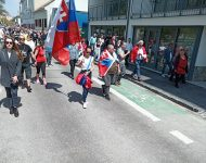 Na snímke pochod občanov v Bratislave