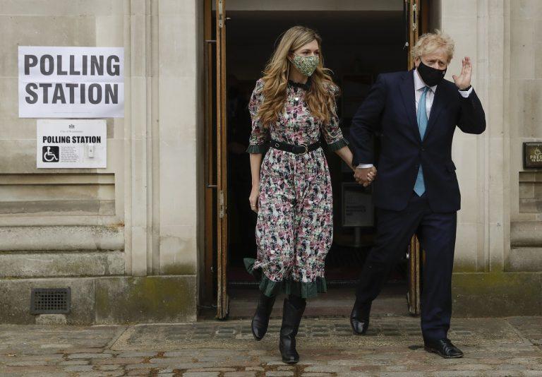 Boris Johnson a Carrie Symondsová