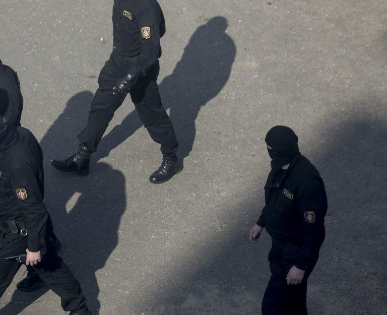 bieloruská polícia