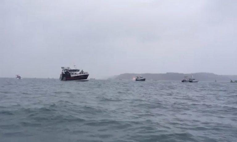 Francuzske rybarske lode ostrov Jersey