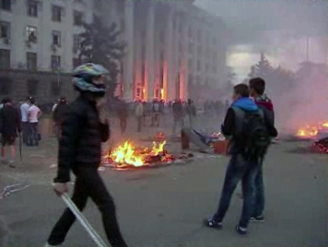 Odesa, požiar