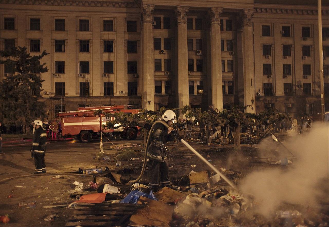 Odesa, požiar, masaker