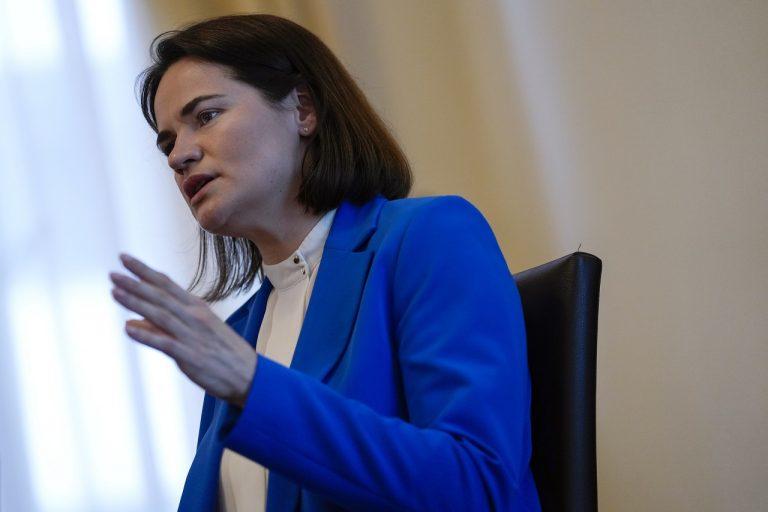 Líderka bieloruskej opozície Sviatlana Cichanovská