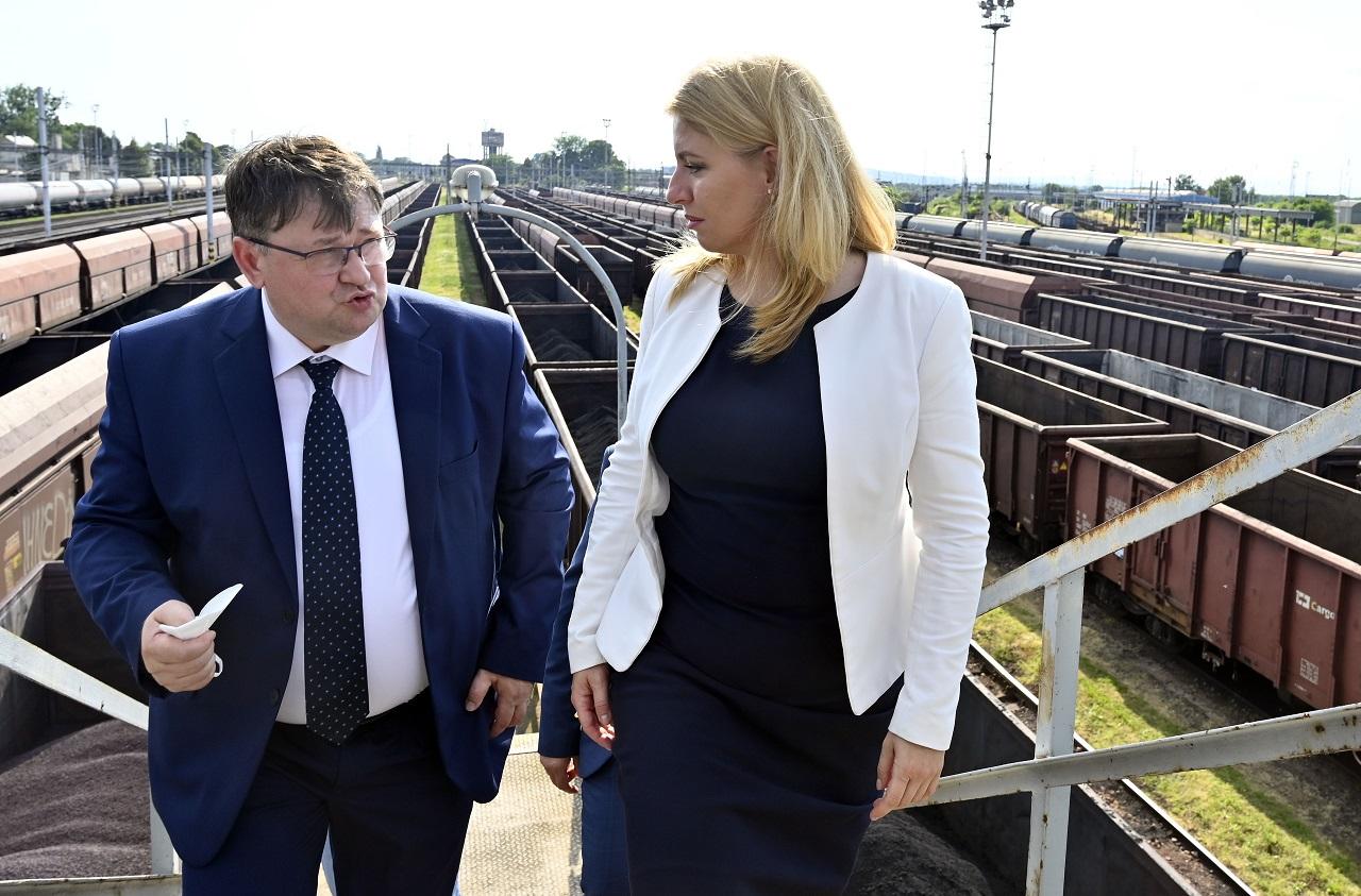 Miroslav Hopta a prezidentka SR Zuzana Čaputová