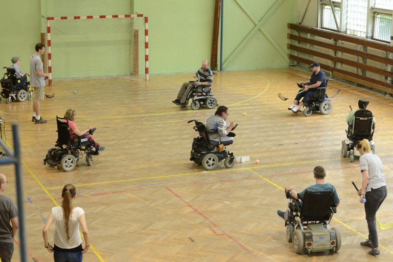 vozičkári, florbal, zdravotné postihnutie
