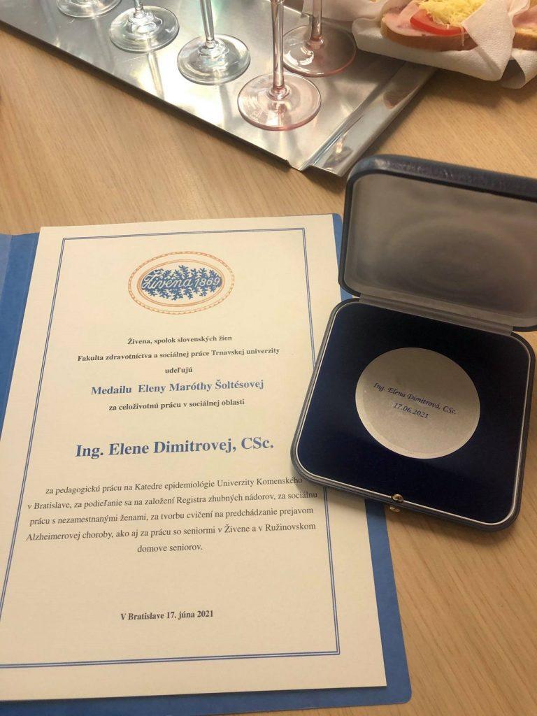 medaila, ocenenie