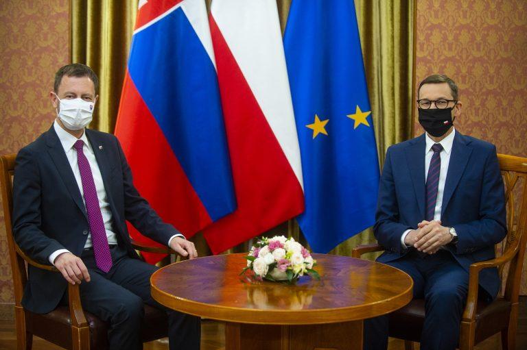 Eduard Heger a poľský premiér Mateusz Morawiecki
